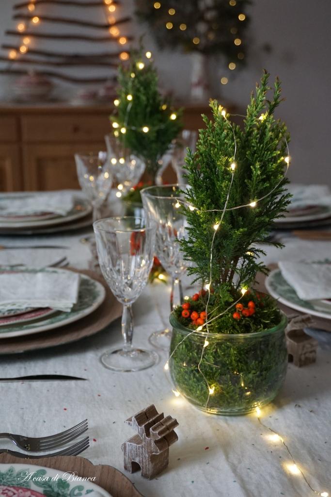 Albero di Natale sulla tavola