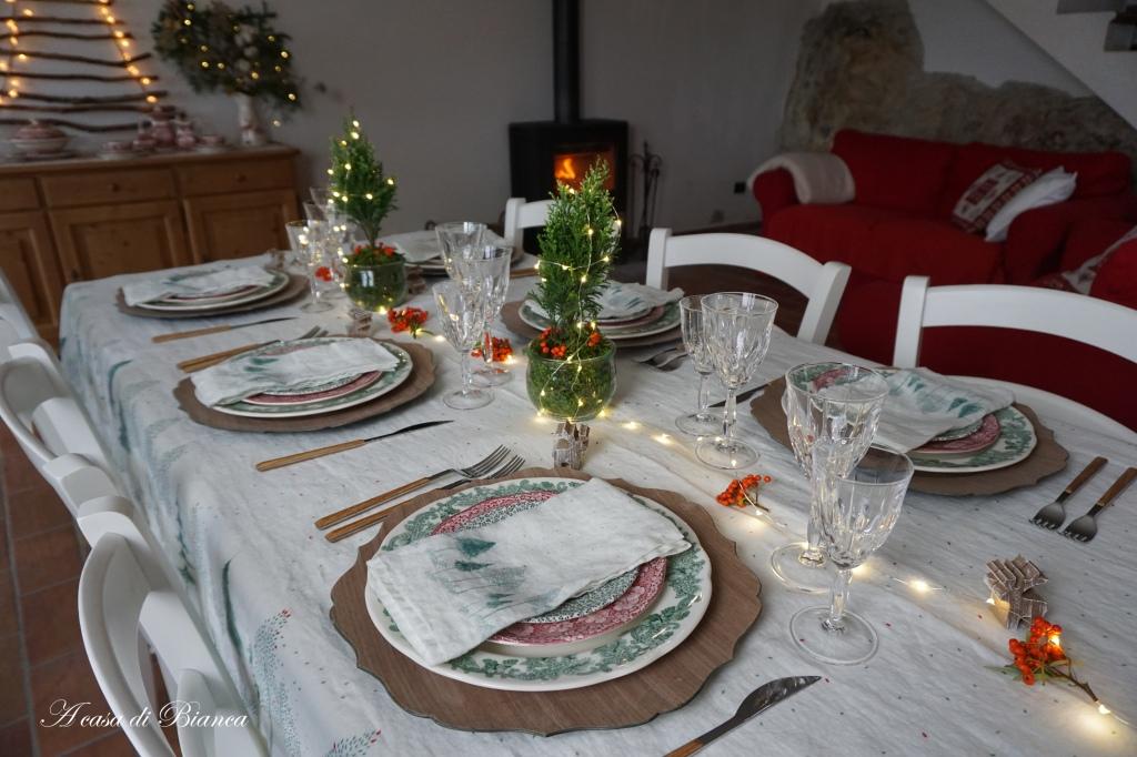 Tavola di Natale in stile nordico