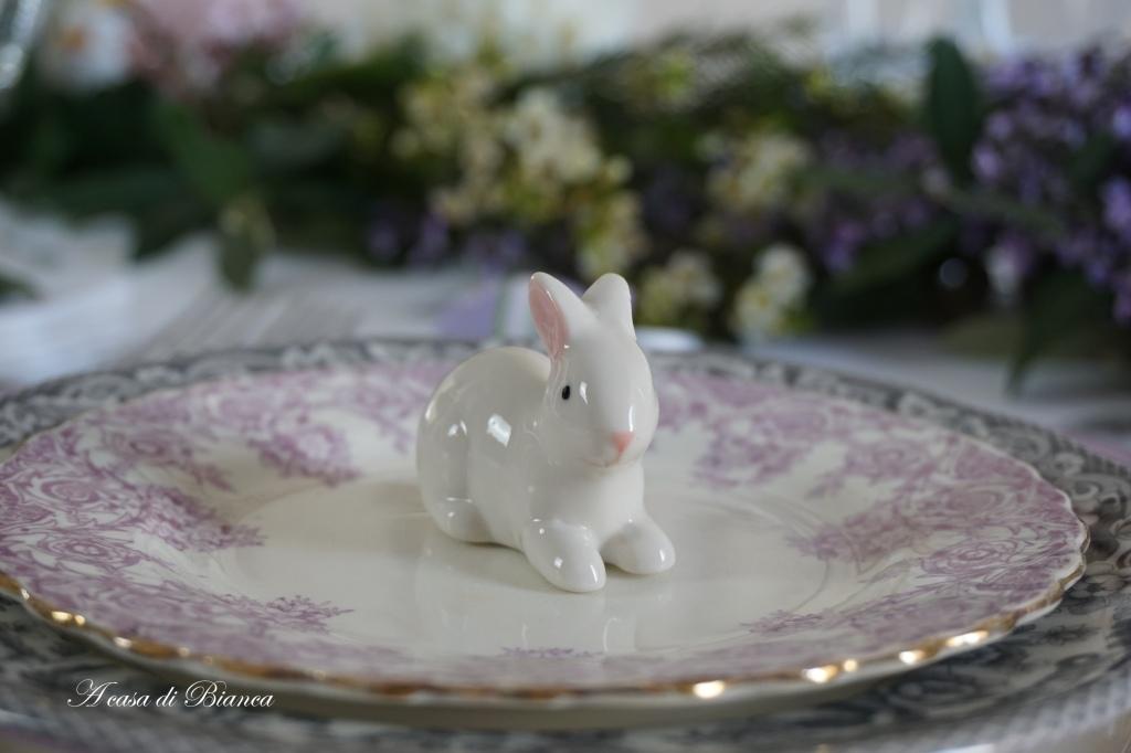 Segnaposto coniglietto pasquale a casa di Bianca