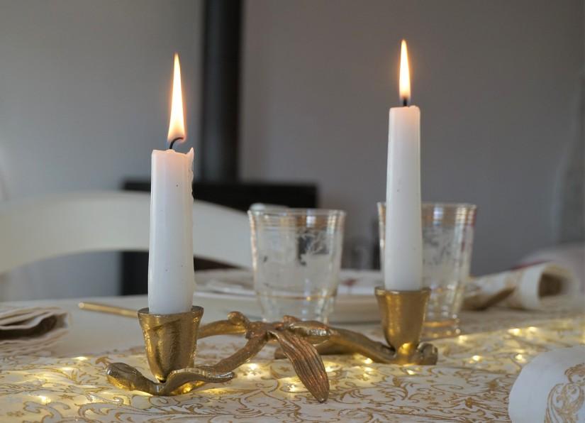 Candelabro natalizio oro